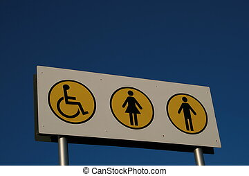 Disabled Facilities - Toilets Sign