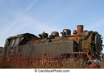 Derelict Train awaiting refurbishment