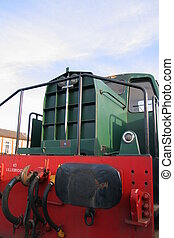 Green Engine - Vintage Green Diesel Railway Engine at...