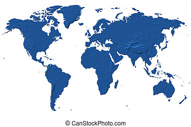 world map - World Map - Africa, America, Asia, Europe &...