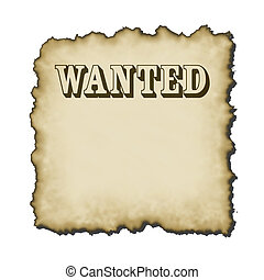 ye old sign - old western looking bold wanted type poster...