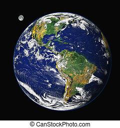 地球, &, 月