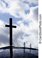 Someone Else's Vision of Heaven - Photo of a cross against...