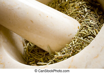 You Can Never Have Enough Rosemary - Photo of a mortar and...