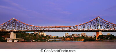 Story Bridge - The Story Bridge over Brisbane City at night...