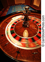 roulette - A turning roulette in a new casino