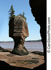 Framed Rock - Framed Rock at the Beach in the Bay of Fundy...