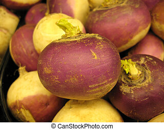 Turnips - Fresh, ripe Turnips for eating.