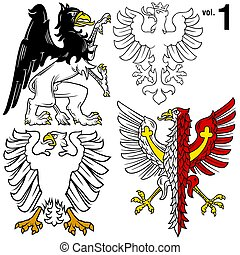 Heraldic Eagles 1 - Heraldic Eagles vol1 - Coloured...