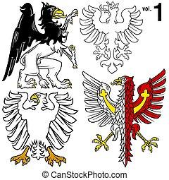 ritterwappen, Adler, 1