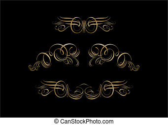 Ornate Scroll - Ornate Scroll on black Background Scroll,...