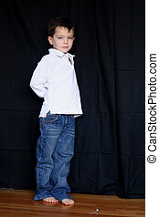 4 year old boy - a 4 year old boy standing up with lots of...