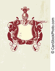 heraldic shield - An heraldic shield or scroll , blank so...