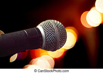 microfone, close-up
