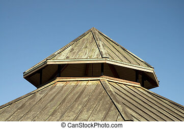 Copper Roof - Pyramid shaped copper roof