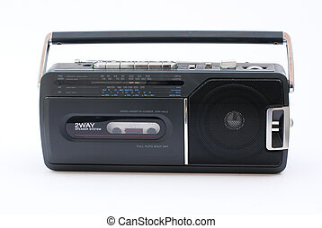 Portable Radio Cassette recorder - Compact radio cassette of...