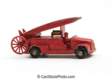 Scale Model Fire engine - Vintage toy english Fire engine...