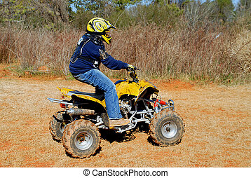 ATV Rider - Photographed teenage atv rider in Georgia.