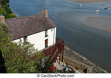 Laugharne Boathouse - The boathouse at Laugharne in Wales is...