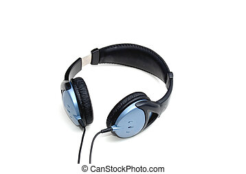 headphones over a white background