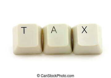 concept of tax - computere keys, concept of tax