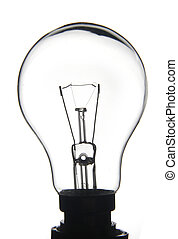 Clear white lightbulb - White lightbulb on a white...