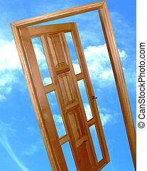 Door to the new worl