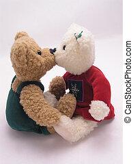 Ursos, beijando,  3