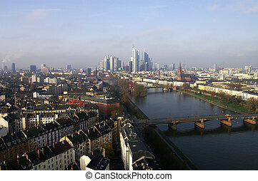 Frankfurt from the top - A view on Frankfurt am Main with...