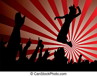 concert jump red