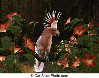 Inca Cockatoo - 3d-illustration of an Inca Cockatoo -...
