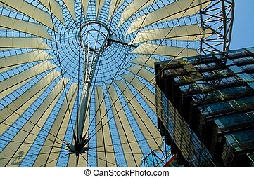Potsdamer PLatz - Roof of open plaza at Sony Center,...