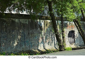 Berlin Wall - Fragment of Berlin Wall in Berlin Germany.