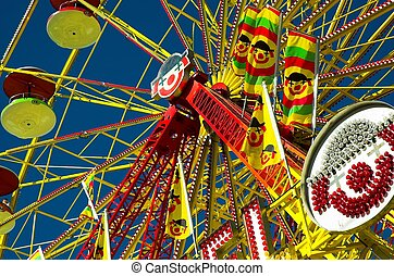 Amusement ride at major outdoor midway in Calgary.
