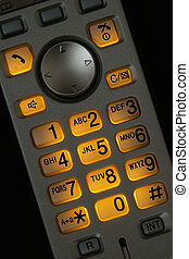 Cordless phone - Closeup view of a cordless phone with...
