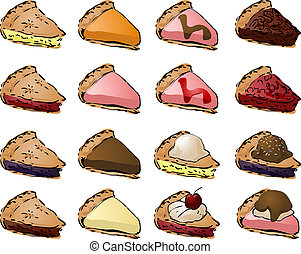 pie_f - Variety of pies and toppings Mix and match to create...