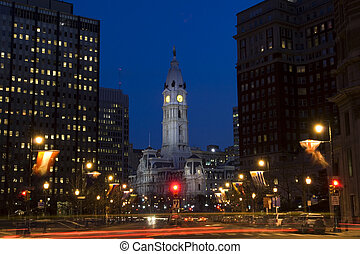 Philadelphia city ce - Philadelphia downtown and city hall...
