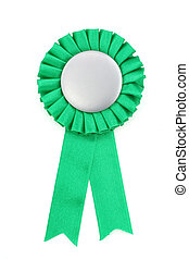green award ribbons badge with white background