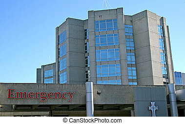 Emergency Room - Entrance to emergency room at an urban...