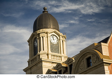 Clock Tower - The 1913 Lethbridge post office clock tower.