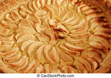 Apple Pie - closeup - A homemade French authentic classic...