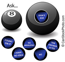 Oracle 8 Ball - None of the answers on this Virtual Oracle...