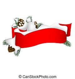 Christmas Banner 2 - Hight detailed illustration.