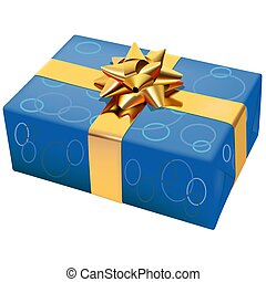 Christmas Box 07 - High detailed illustration.