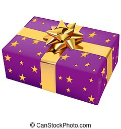 Christmas Box 08 - High detailed illustration.