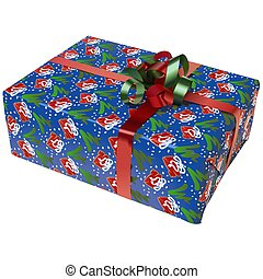 Christmas Box 10 - High detailed illustration.