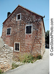 old building brac croatia - typical building house...