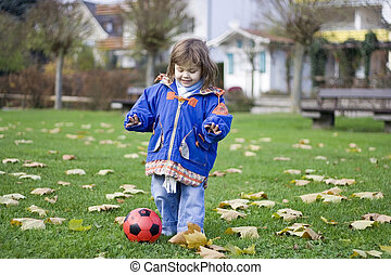little soccer player 2 - little girl playing with the ball...