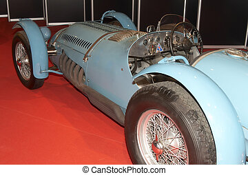 cabriolet - The ancient sports automobile on automobile show