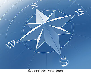 Compass rose - Rendered image of compass rose
